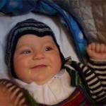 Babymützen-Model