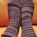 Krepp-Socken fertig
