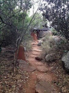 Der Weg zu unserer Villa