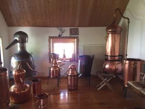 Verschiedene Distillen im Museum