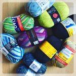 So viel verschiedene Sockenwolle!